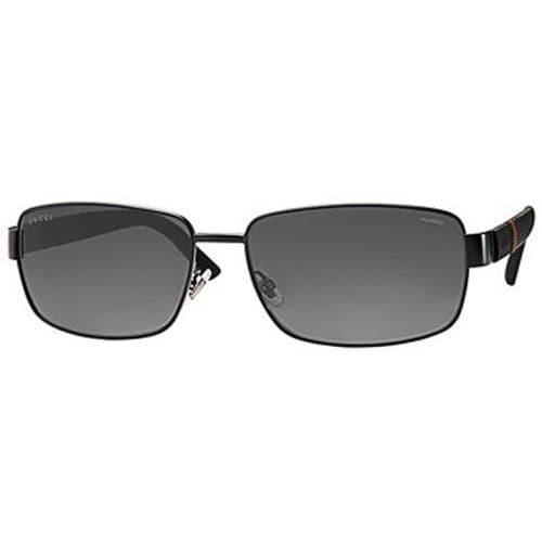 40ee2122f0d Shop Gucci Aviator 2249 F S M7A Men s Matte Black Frame Polarized ...
