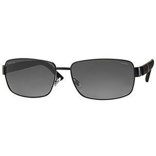 Gucci Aviator 2249 F/S M7A Men's Matte Black Frame Polarized Grey Lens Sunglasses