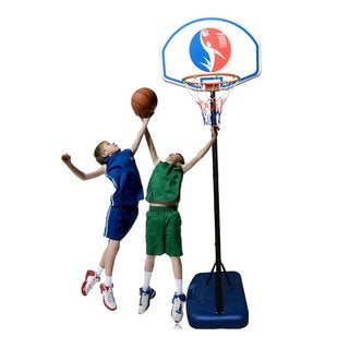 Kids Portable Basketball Stand (Rim Height 1.5-1.8m) Blue & Black & White