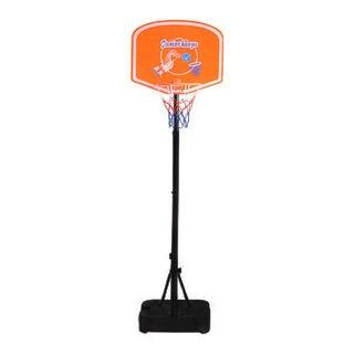 Kids Portable Basketball Stand (Rim Height 1.25-1.53m) Orange & Black & Blue