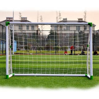 6' x 4' Soccer Goal Training Set with Net Buckles Ground Nail Football Sports