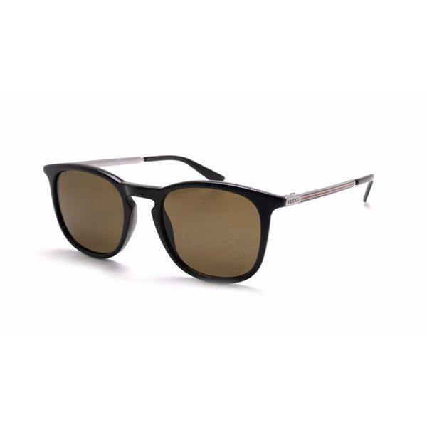f66f1ff6067 Gucci GG 1130 CVS Black Ruthenium Frame Brown Lens Square Sunglasses