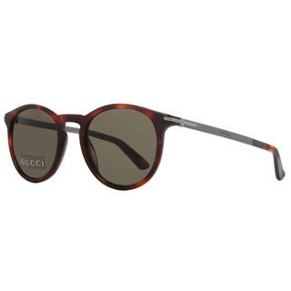Gucci GG 1110/S 8E270 Havana Dark Ruthenium Frame Brown Lens Sunglasses