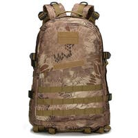 40L Outdoor 3D Waterproof Tactical Backpack Pythons Grain Khaki