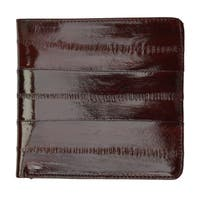 Embossed Eel Leather Hipster Wallet