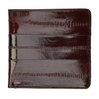 Embossed Eel Leather Hipster Wallet