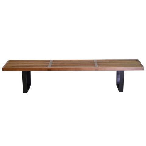 Handmade Nelson Style 72-inch Platform Bench (China)