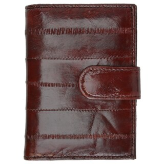 Genuine Embossed Eel Leather Credit Card Case with Snap Closure (Option: Purple)
