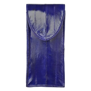 Embossed Eel Leather Eye Glass Holder (Option: Purple)