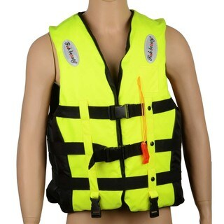 J04 Waterproof Swimming Life Vest Life Jacket with Whistle for Adults