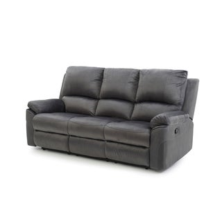 LYKE Home Contemporary Micro Suede Reclining Sofa