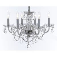 Weinstock 8-light Chrome Crystal Chandelier WIth French Pendelogue Crystal Trim