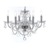 Weinstock 6-light Chrome Crystal Chandelier with French Pendelogue Crystal Trim