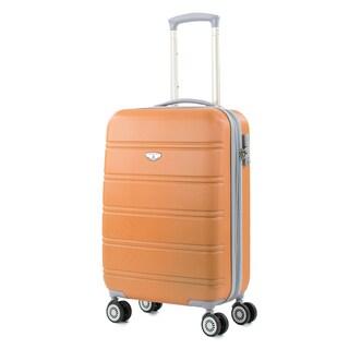AGT Plateau 20-inch Carry-On TSA Lock Expandable Spinner Suitcase (Option: Orange)