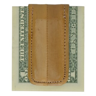 Men's Embossed Eel Leather Large Magnetic Money Clip
