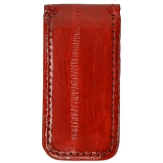 Men's Embossed Eel Leather Large Magnetic Money Clip (Option: Brown)