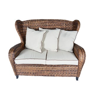 Handmade Boracay Brown Slope Arm Wingback Loveseat (Philippines)