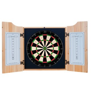 Premier League Dart Cabinet Set with Darts and Board - Arsenal