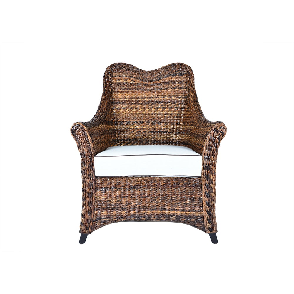 Handmade Boracay Brown Heart Shaped Wingback Chair (Philippines) (Heart Flare Arm Chair)