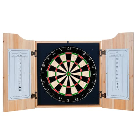 Budweiser Dart Cabinet Set with Darts and Board - Clydesdale Black