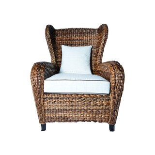 Handmade Boracay Brown Slope Arm Wingback Chair (Philippines)