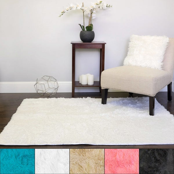 Shop Sweet Home Collection Plush Faux Fur Area Rug 4 X 5 Free
