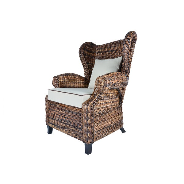 Handmade Boracay Rolled Arm Wingback Chair (Philippines)