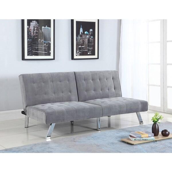 Shop Best Master Furniture Suede Adjustable Sofa Bed Futon