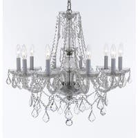 Weinstock 10-light Chrome Crystal Chandelier With French Pendelogue Crystal Trim