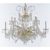 Weinstock Goldtone 14-light Chandelier with French Pendelogue Crystal Trim