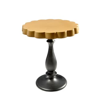 Amrah Home Lyric Black and Gold Aluminum Side Table