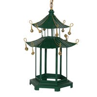 Green 18.5-inch x 16-inch x 29-inch Pagoda
