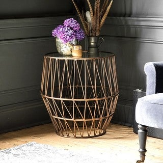 Amrah Home Artistic Dusty Copper Side Table
