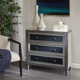Madison Park Tulsa Silver/ Black 3-Drawer Chest