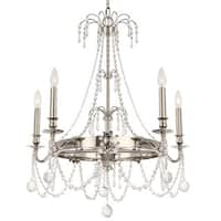Crystorama Harlow Collection 5-light Polished Nickel Chandelier