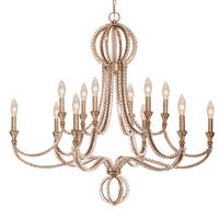 Crystorama Garland Collection 12-light Distressed Twilight Chandelier