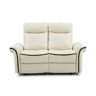 LYKE Home Faux Leather Contemporary Reclining Loveseat