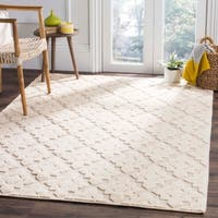 Safavieh Vermont Contemporary Geometric Hand-Woven Wool Ivory Area Rug (9' x 12')