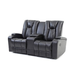 LYKE Home David Faux Leather Reclining Loveseat
