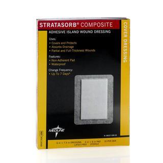 Medline Stratasorb 6 x 7.5-inch Composite Dressings (Pack of 10)