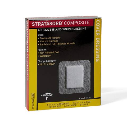 Medline Stratasorb 4 x 4-inch Composite Dressings (Pack of 10)
