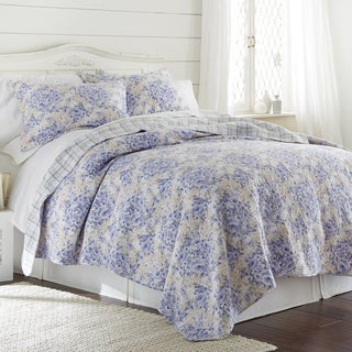 Amrapur Overseas Girona Floral 100% Cotton 3-Piece Printed Reversible Quilt set