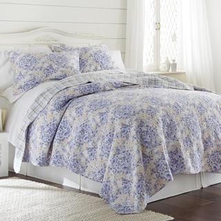 Amrapur Overseas Girona Floral 100% Cotton 3-Piece Printed Reversible Quilt set