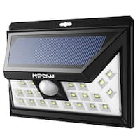 Outdoor Solar Powered, Wireless Waterproof Security Motion Sensor Solar Light Wide Angle Sensor with 24 LED Source Light