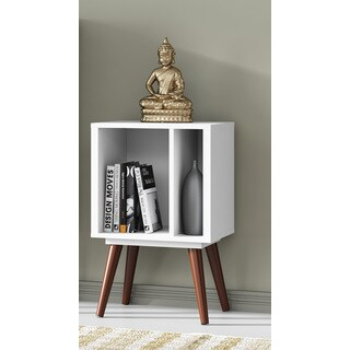 Small Cubby White Satin Bookcase