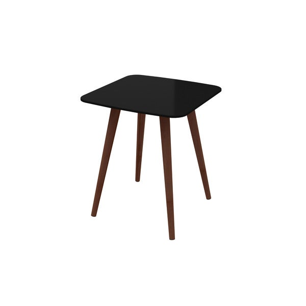 Lea Black Lacquered Wood End Table Free Shipping Today 16495846