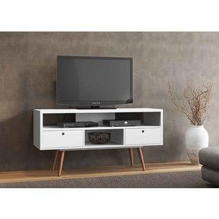 Jessie White Wood TV Stand