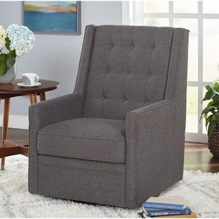 Simple Living Contemporary Clifford Grey Swivel Chair