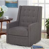 Simple Living Contemporary Clifford Grey Swivel Chair - N/A