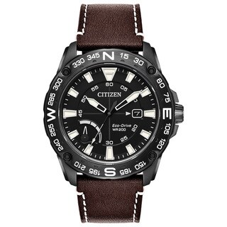Citizen Men's Brown Leather Eco-Drive Watch